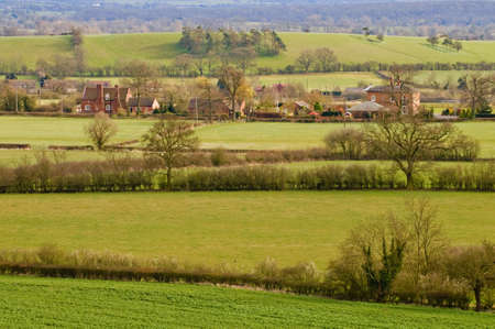 view from hanbury church worcestershire england uk the setting for the fictional village of ambridge in the radio serial the archers Stock Photo - 2790303