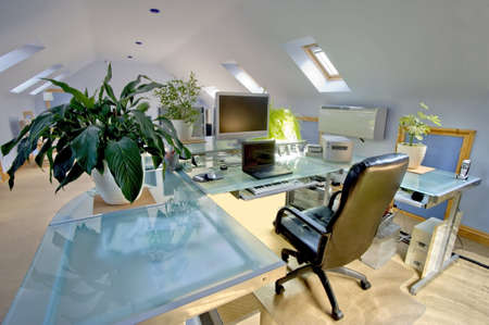 A home office in a converted loft Stock Photo - 2802932