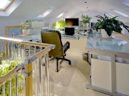A home office in a converted loft Stock Photo - 2802928