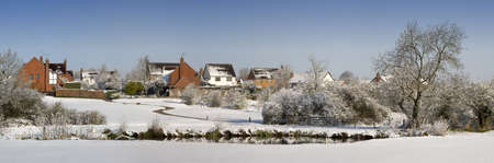 A snow covered rural landscape in the countryside Stock Photo - 2820197