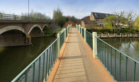 Brücke über den Fluss Avon Stratford-upon-Avon, Warwickshire midlands England UK