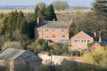 tardebigge: villaggio con case in campagna - tardebigge canale villaggio Worcestershire