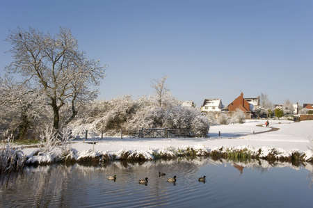 A snow covered rural landscape in the countryside Stock Photo - 2838205