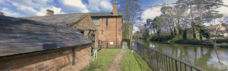 redditch: The national needle museum alongside the river arrow redditch worcestershire midlands, uk Stock Photo