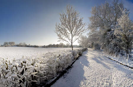 A snow covered rural landscape in the countryside Stock Photo - 2876041