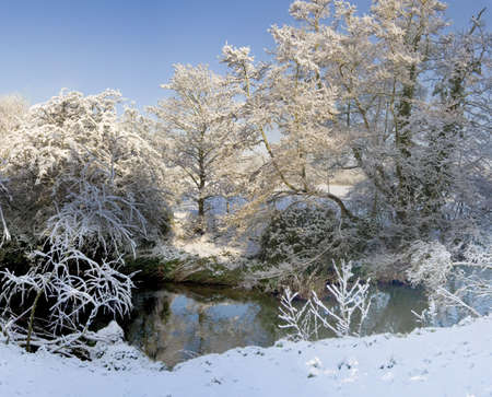 A snow covered rural landscape in the countryside Stock Photo - 2876046