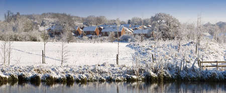 A snow covered rural landscape in the countryside Stock Photo - 2876056