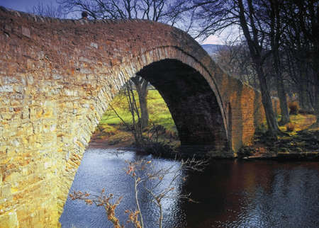 old packhorse bridge: Swaledale in the Yorkshire Dales National park england uk