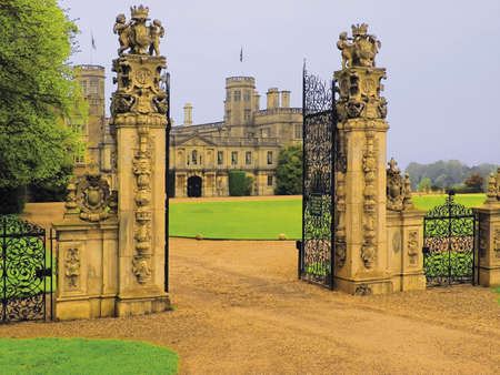 stately home castle ashby northamptonshire midlands england uk Stock Photo - 2892172