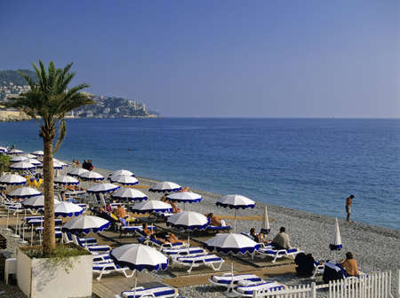 dazur: beach promenade des angalais nice alpes-maritime provence cote dazur french riviera south of france meditteranean france europe