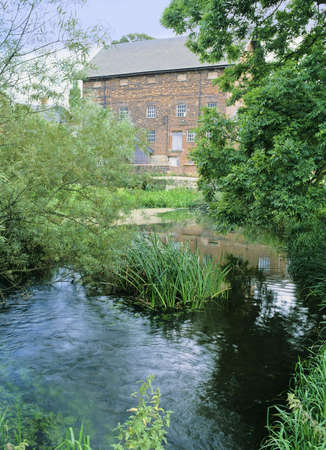 ouse: old brick built mill sharnbrook river great ouse bedfordshire home counties england uk europe Stock Photo