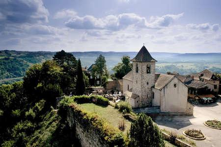 midi: capdenac village the midi pyrenees france