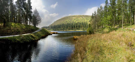 national scenic trail: Howden Reservoir in the Derwent Valley Peak District National Park midlands england uk