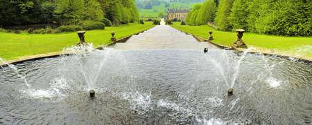 chatsworth: england derbyshire chatsworth house cascade