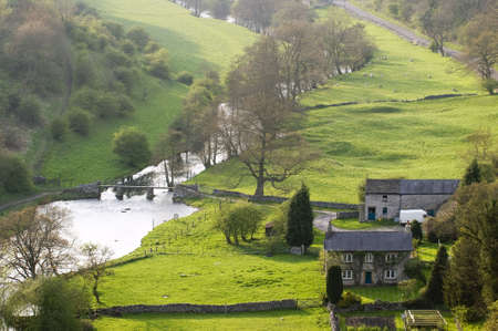 real esate: The valley of the river wye at monsal dale view from monsal head