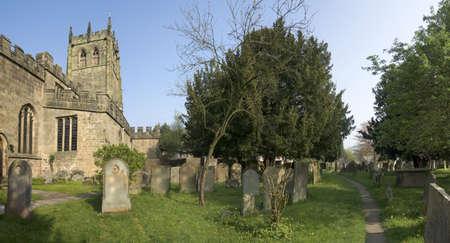 churchyard: churchyard youlgrave church peak district derbyshire england uk  midlands Stock Photo