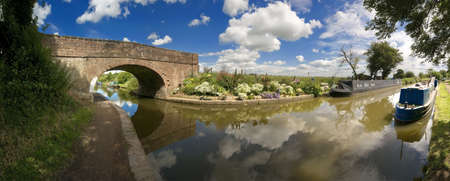 The Worcester and Birmingham canal at Tardebigge canal village in Worcestershire, the Midlands, England. Stock Photo - 3265590