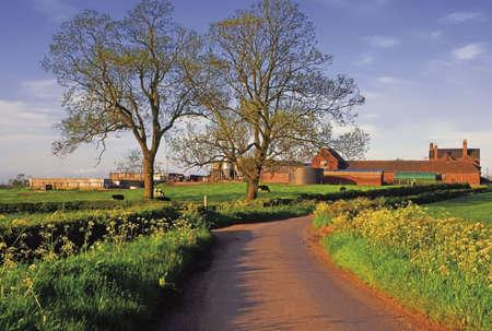Country Road farm Atherstone Warwickshire Midlands England photo