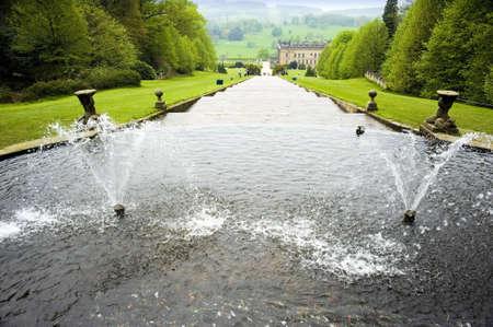 chatsworth: england derbyshire chatsworth  cascade