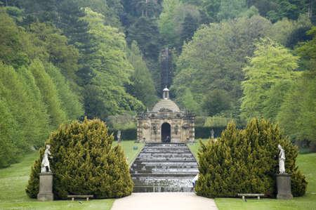 castle district: england derbyshire chatsworth  cascade