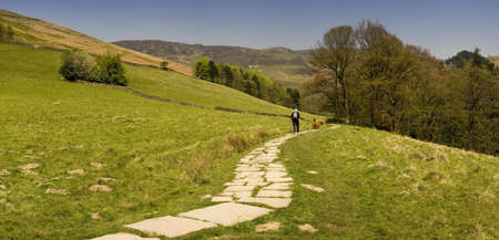 national scenic trail: The pennine way long distance footpath edale the high peak district national park derbyshire midlands uk
