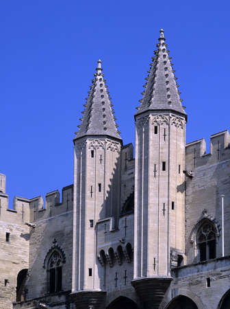 palais: france south of france palais des papes avignon vaucluse Stock Photo