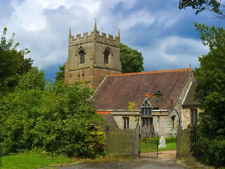 churchyard beoley church warwickshire midlands Stock Photo - 3372077