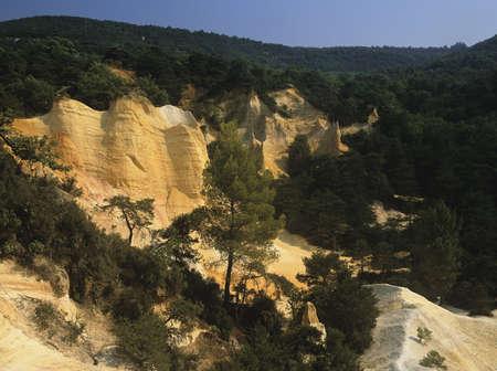 roussillon: Old ochre mines near Roussillon Colorado de Rustrel Alpes de Haute Provence Provence France Europe