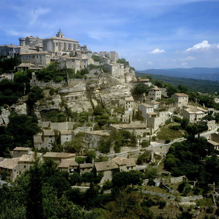 vaucluse: france provence gordes village vaucluse the luberon europe