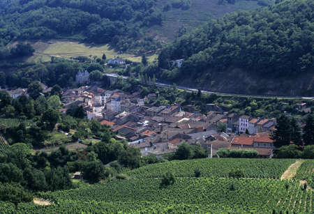 Francja Rodan Dolina Rodan beaujolais winnic beaujeu  Zdjęcie Seryjne - 3379418