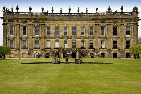 stately home: england derbyshire chatsworth  Stock Photo