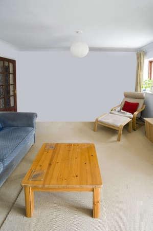complemento: en el sal�n reconstruido recientemente restaurada casa Foto de archivo