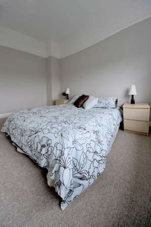 bedroom in newly converted house clean design modern photo