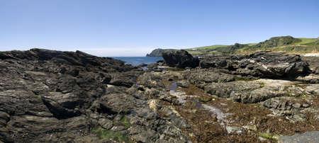 southwest: uitzicht vanaf de Zuid-west devon kust pad prawle punt het zuiden radioamateurs devon Engeland uk