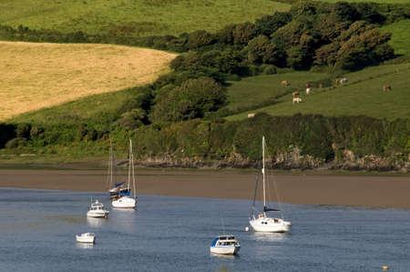 jamones: estuario del r�o la bantham Avon South Hams Devon Inglaterra Reino Unido