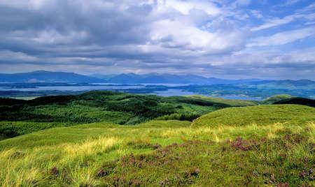 a glen in the scottish highlands photo