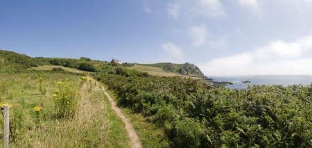 jamones: vista desde el sur de la costa oeste de Devon camino prawle punto del sur de Devon jamones Inglaterra Reino Unido