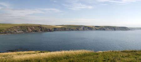 jamones: la ciudad tur�stica de Bigbury en el mar del sur jamones Devon Inglaterra Reino Unido punto de vista de Burgh isla