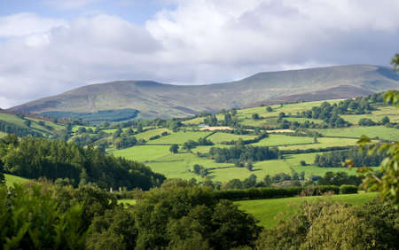 brecon beacons: brecon beacons national park landscape powys wales