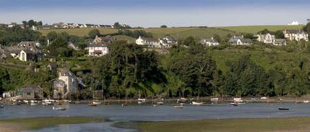jamones: estuario del r�o la bantham Avon South Hams Devon Inglaterra Reino Unido Foto de archivo