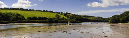 jamones: las mareas carretera estuario del r�o Avon aveton Gifford South Hams Devon Inglaterra Reino Unido