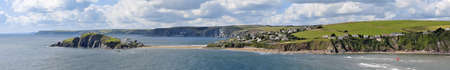 burgh: england the west country devon the south hams bigbury on sea view from burgh island Stock Photo
