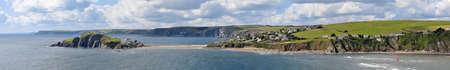 jamones: Inglaterra al oeste de Devon pa�s del sur de jamones Bigbury vistas al mar desde la isla Burgh Foto de archivo