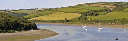 england the west country devon estuary of the river avon bantham bigbury on sea  photo