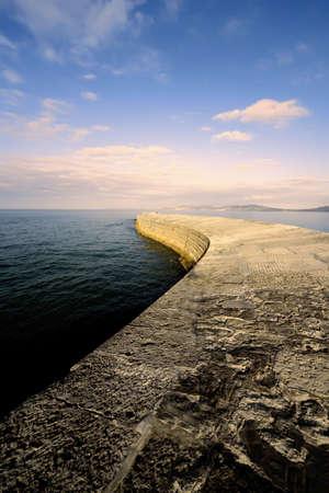 lyme: lyme regis dorset england the cobb harbour wall
