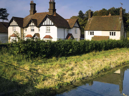 village with houses in countryside halton village alongside wendover canal in buckinghamshire uk Stock Photo - 3837509