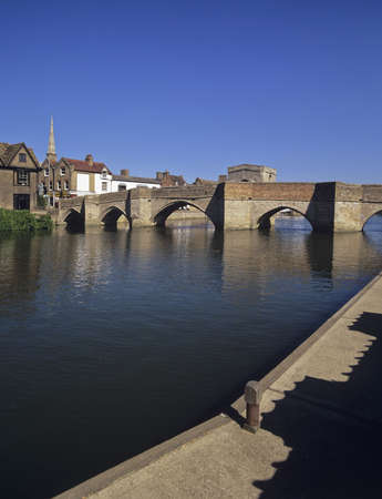 ouse: river great ouse st ives cambridgeshire Stock Photo