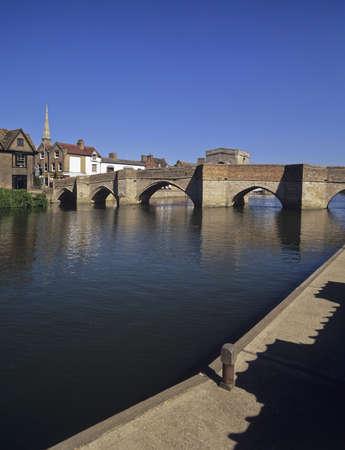 cambridgeshire: river great ouse st ives cambridgeshire Stock Photo