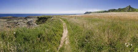 southwest: uitzicht vanaf de zuid-west kust van Devon pad prawle punt in het zuiden hammen Devon Engeland Verenigd Koninkrijk Stockfoto
