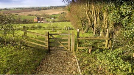 streifzug: Aussicht von der Art und Weise Monarchen lange Distanz Fu�weg tardebigge Worcestershire